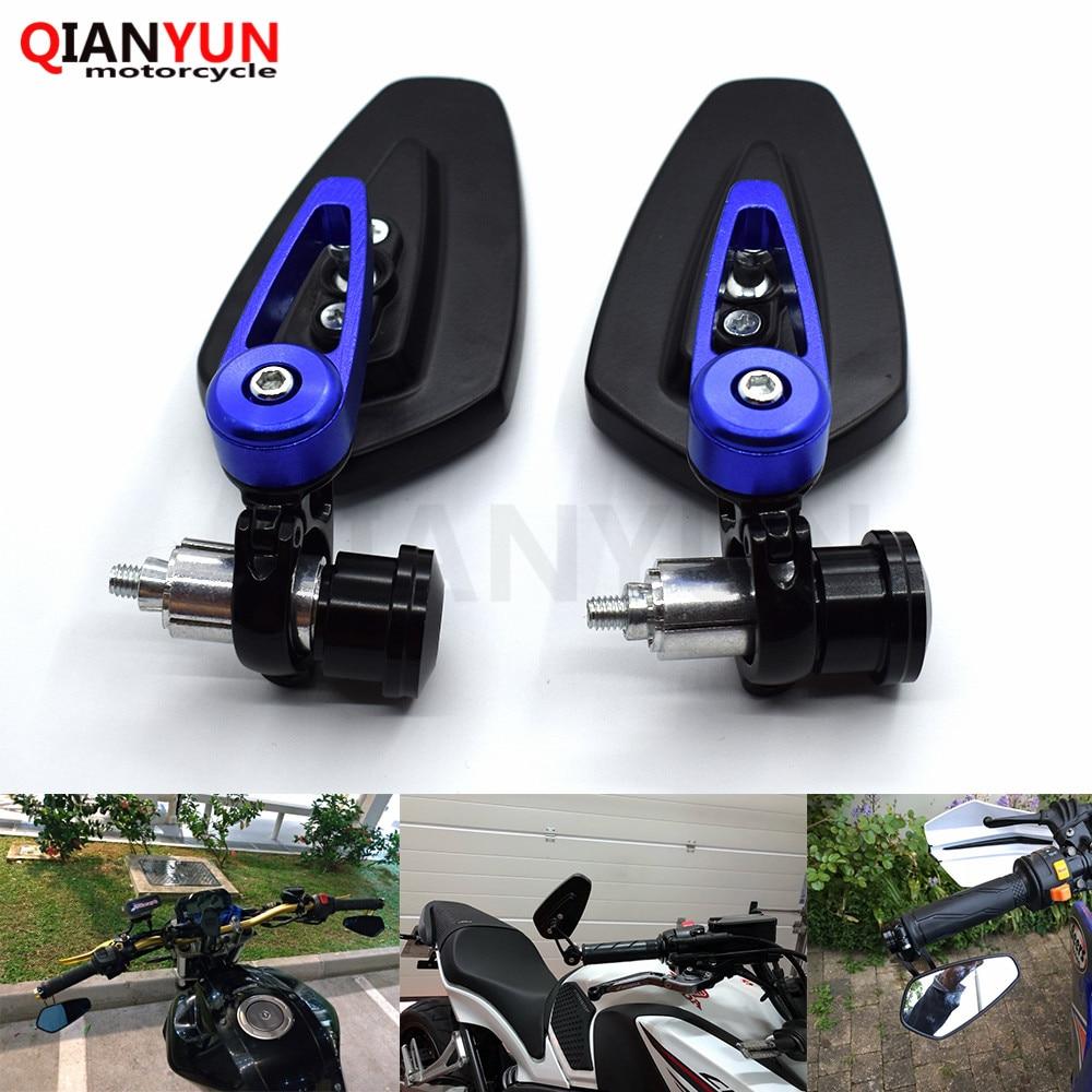 "new most motorcycle 7/8"""" 22mm handle bar Rearview Side Mirror Motocycle Bar End Mirror For KTM 640 BMW Kawasaki honda suzuki"