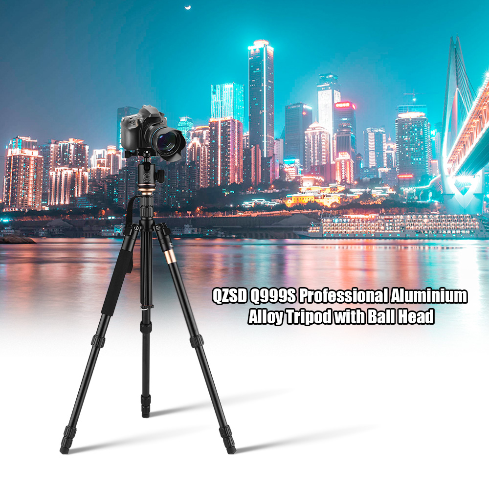 Q999S Pro Tripod Detachable Changeable Monopod With QZSD-06 Ball Head For SLR Camera Portable