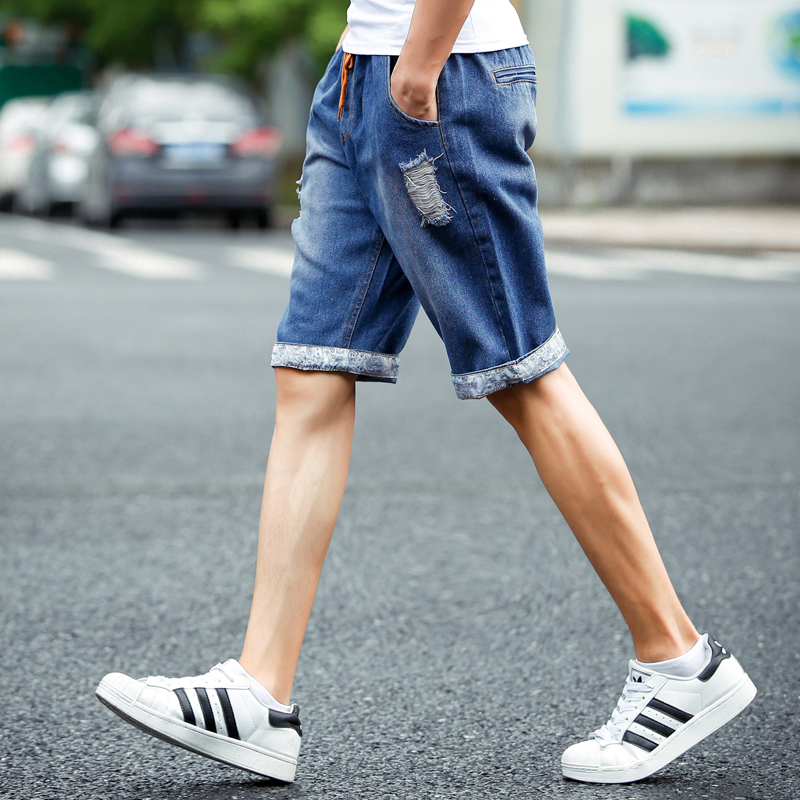 Chinese Style Fluid Men S Brand Casual Pants Summer Thin Hole Denim