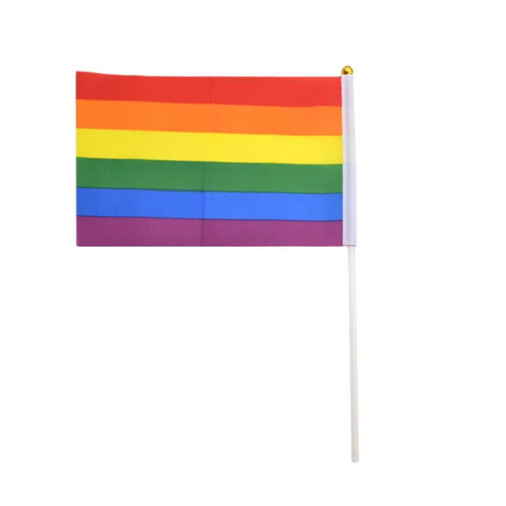 2019 ที่มีสีสัน LGBT Rainbow Flag รายการโพลีเอสเตอร์น้ำหนักเบา Peace ธงเลสเบี้ยนเกย์ Parade แบนเนอร์หน้าแรกอุปกรณ์ตกแต่ง