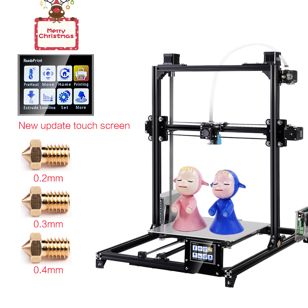 Flsun 3D impresora I3 Kit de Metal completo Plus tamaño 300x300x420mm de doble extrusora toque Auto- nivelación de 3D cama caliente de filamento