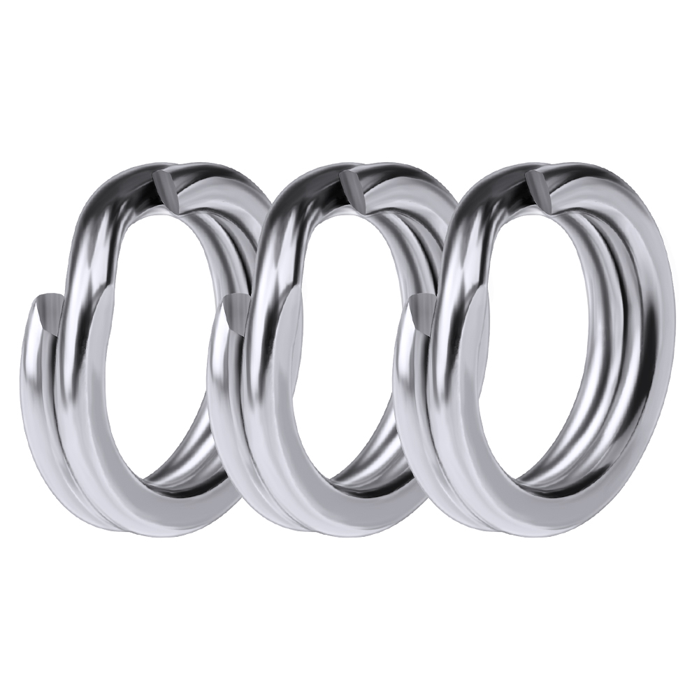 100pcs Fishing Split Rings for Crank Hard Bait Silver Stainless Steel 3#-8# Double Loop Split Open Carp Tool Fishing Accessories 10