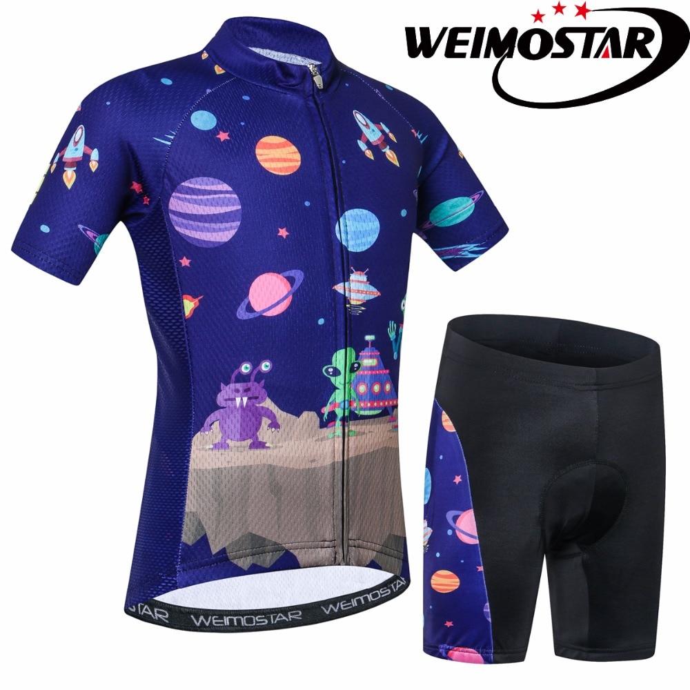 Bike Jersey Clothing Sportswear Ropa-Ciclismo Children Mtb Cartoon Summer Outdoor Alien