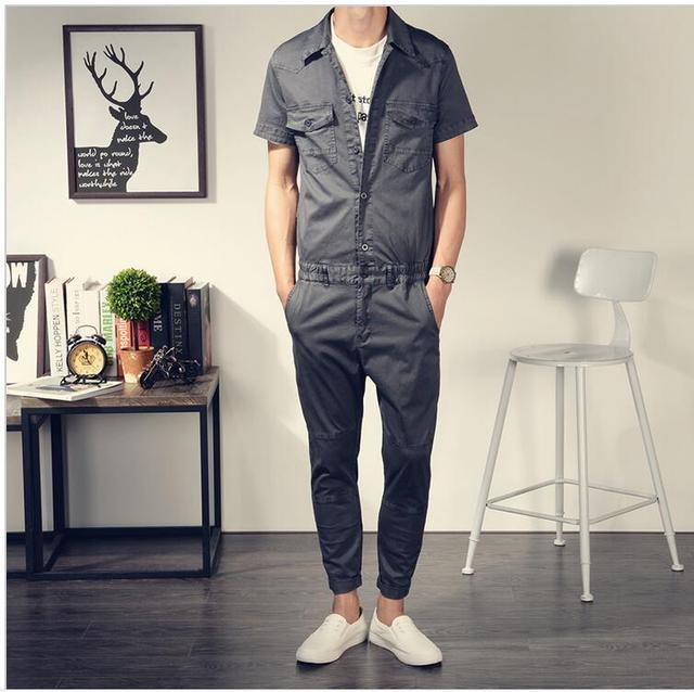 Aliexpress.com : Buy 2017 New Summer Men Jumpsuit Casual ...