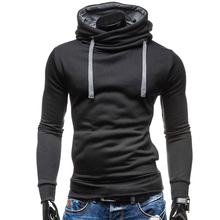 2019 New Fashion Hoodies Brand Men Solid Color Lace Sweatshirt Male Hoody Hip Hop Autumn Winter Hoodie Mens Pullover XXL