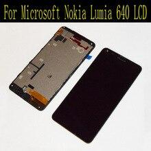 Pour Microsoft Nokia Lumia 640 Écran lcd avec Écran Tactile Digitizer Assemblée avec Cadre Noir + Outils Livraison Gratuite