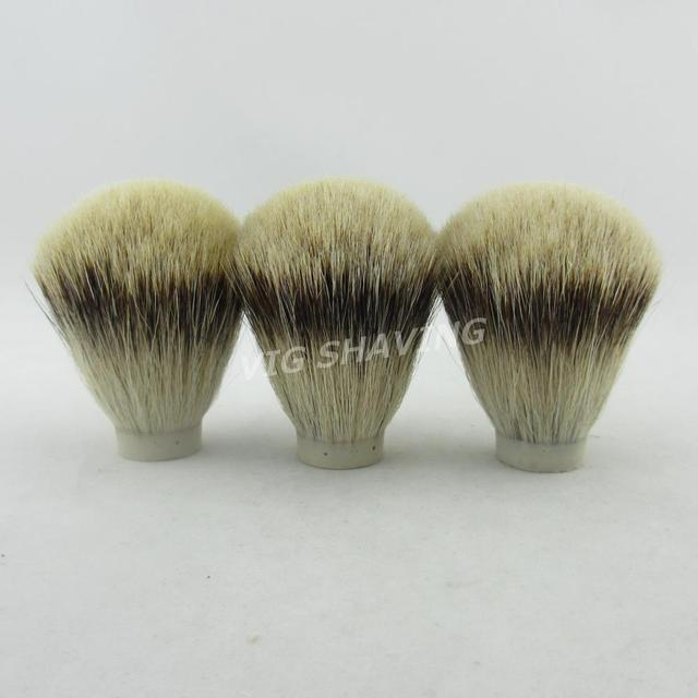 3pcs 20/65mm SilverTip Badger hair Men Shaving Brush Knot beard brush head