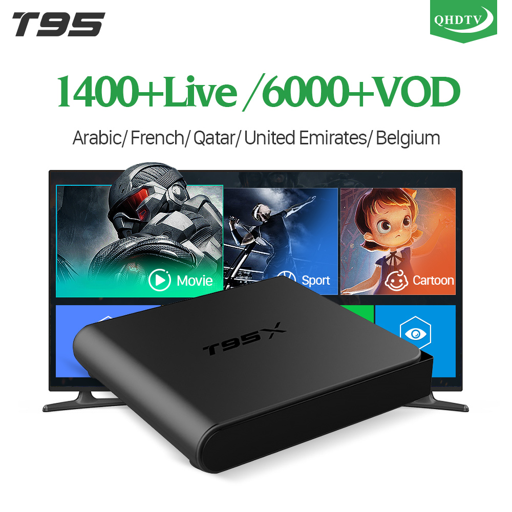 IPTV France T95X Android 6.0 TV Box Smart IPTV Receiver 1 Year QHDTV Code IPTV Europe French Belgium Dutch Arabic IPTV Top Box dalletektv android smart tv box 1 year free qhdtv iptv channels arabic europe italia iptv french set top box media player