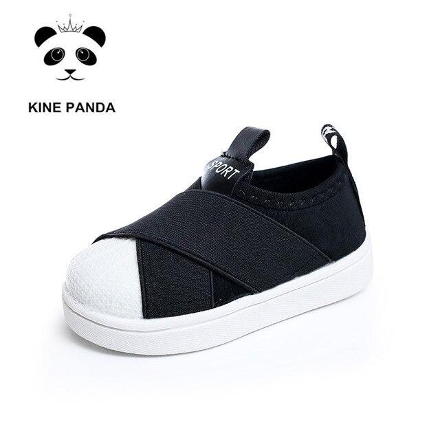 KINE PANDA Kids Shoes Girls Boys Trainers Baby Boy Flats Girl Sneakers Kindergarten Children Sport Shoes 1 2 3 4 Years Old