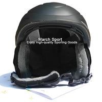 Deluxe CE Certificato Sci Snowboard Freestyle Testa Casco Equipaggiamento Protettivo Uomini Donne Grande Medio Nero