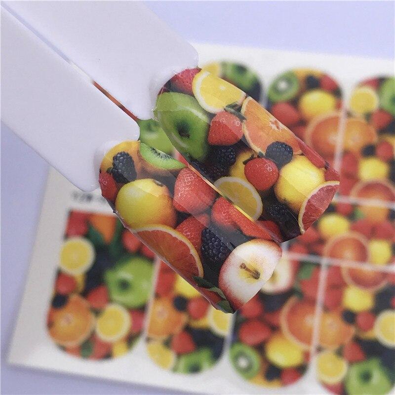 ZKO 1 Лист наклейки для дизайна ногтей Apple/Star/мультфильм/фрукты/Кошка наклейки для ногтей на маникюр с использованием водяных знаков наклейки для ногтей|Стикеры и наклейки|   | АлиЭкспресс