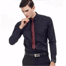 Business Gentlemen Long Sleeve custom Men Shirts Solid color Classic Style Dress Shirts Slim Fit fashion Formal Shirt