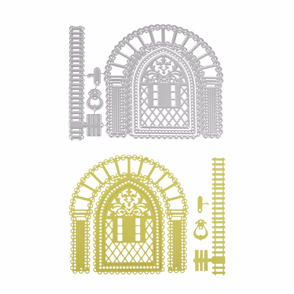 Metal Cutting Dies New 2018 Architecture Building House Decorate Scrapbooking Craft Stamp Embossing Paper Card Stencil