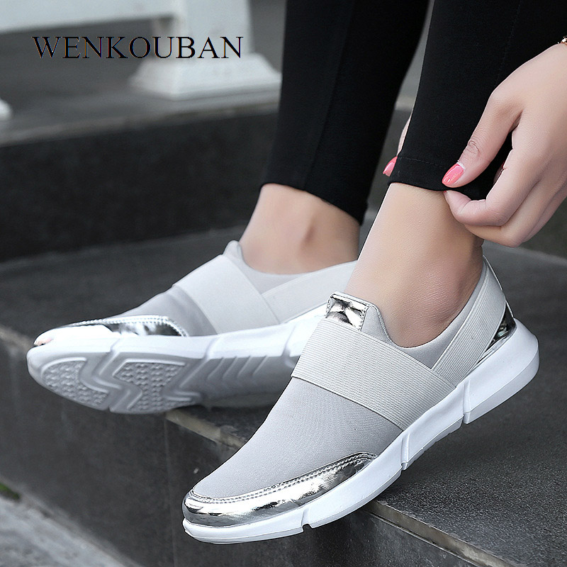 Fashion Sneakers Ladies Trainers Women Casual Shoes Slip on Loafers Basket Femme Vulcanized Shoes Tenis Feminino 2019 Plus SizeFashion Sneakers Ladies Trainers Women Casual Shoes Slip on Loafers Basket Femme Vulcanized Shoes Tenis Feminino 2019 Plus Size