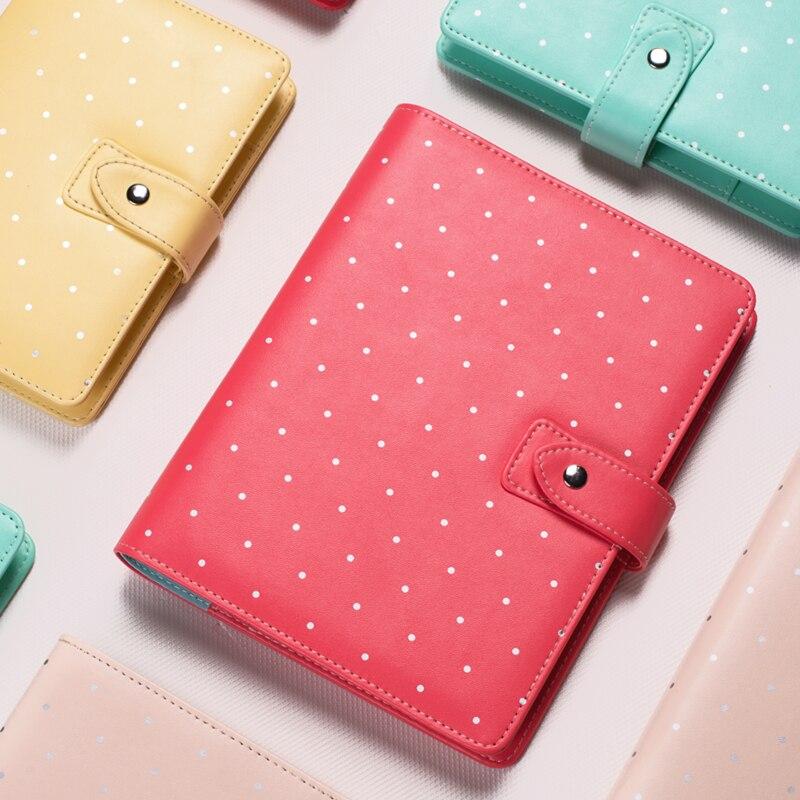 New Dot Notebook A5 A6 Diamond Planner Cute Creative Buckle Spiral Case Book Diary Personal Diary Daily Memos цены онлайн