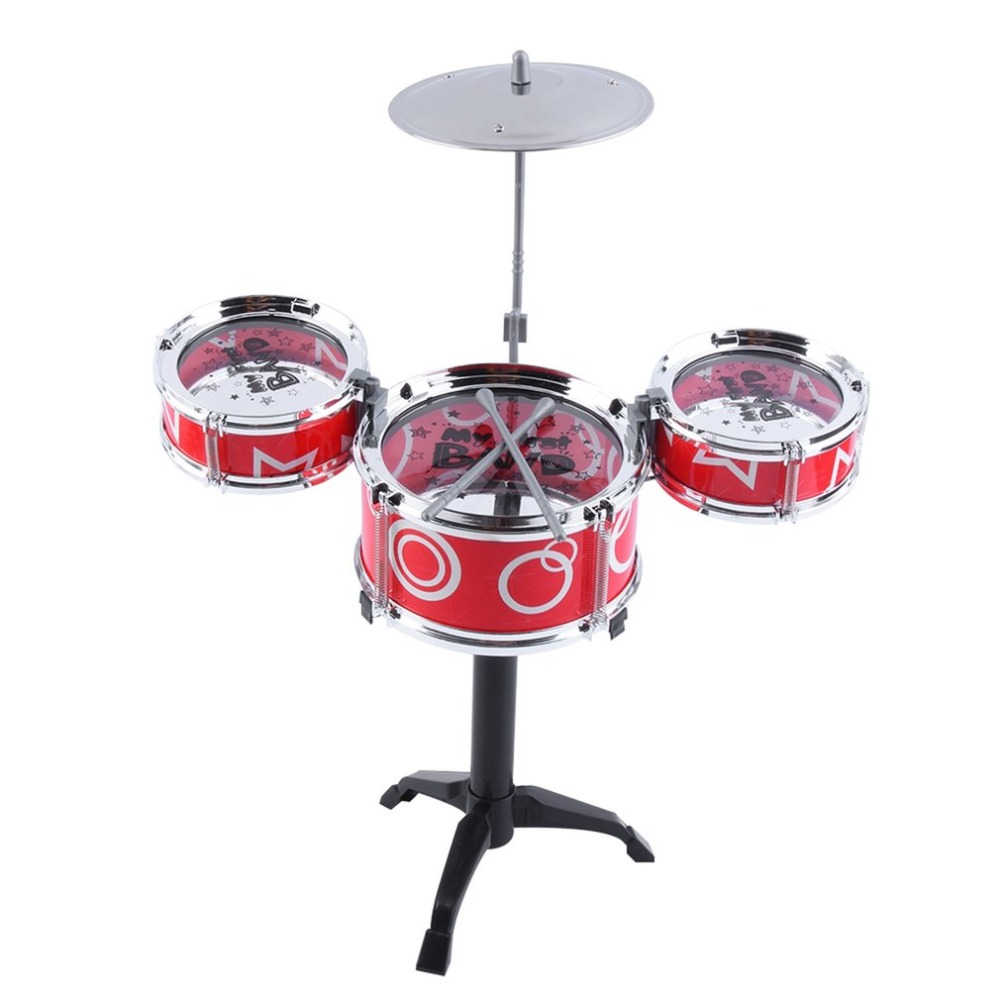 Children Kids Educational Toys Rock Drums Simulation Musical Instruments for Children Drum Toys Color Random Delivery