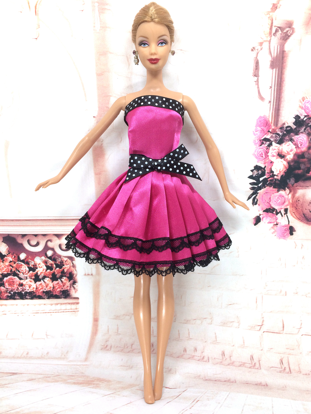 NK 2018 Newest Doll Dress Beautiful Handmade Party ClothesTop Fashion Dress For Barbie Noble Doll Best Child Girls'Gift 056A