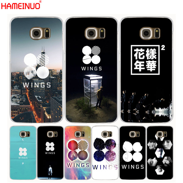 US $2 92 |HAMEINUO BTS Bangtan Wings cell phone case cover for Samsung  Galaxy Note 3,4,5 E5,E7 ON5 ON7 grand prime G5108Q G530-in Half-wrapped  Case