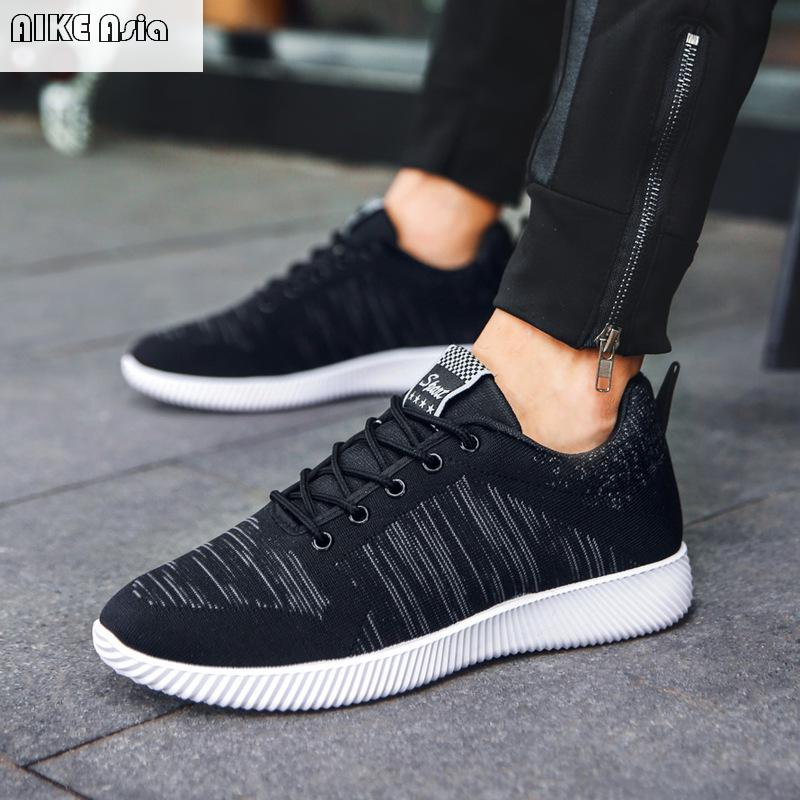 Aike Asia Mens Casual Shoes Lightweight Breathable Flat Shoes Mens Shoes Mens Flying Woven Canvas Shoes 50% OFF Men's Casual Shoes Men's Shoes