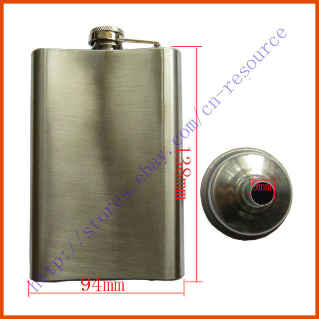 New Stainless Steel Hip Liquor Alcohol Flask+Funnel Cap 10oz