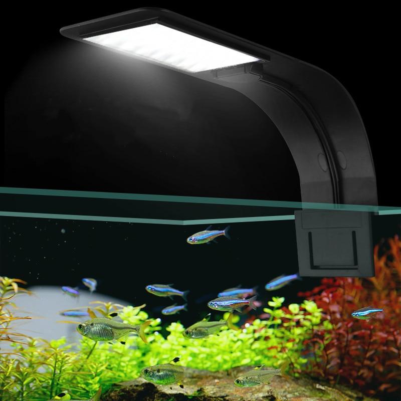 Super Slim LED Aquarium Lights Clip-on LED Plants Grow Light 5W/10W/15W Aquatic Freshwater Lamps Waterproof Lamp For Fish Tanks(China)