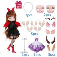 35cm 14 Moveable Joints fashion doll with beautiful dress fashion doll 1/6 BJD dolls Can Changed Makeup and Dress DIY