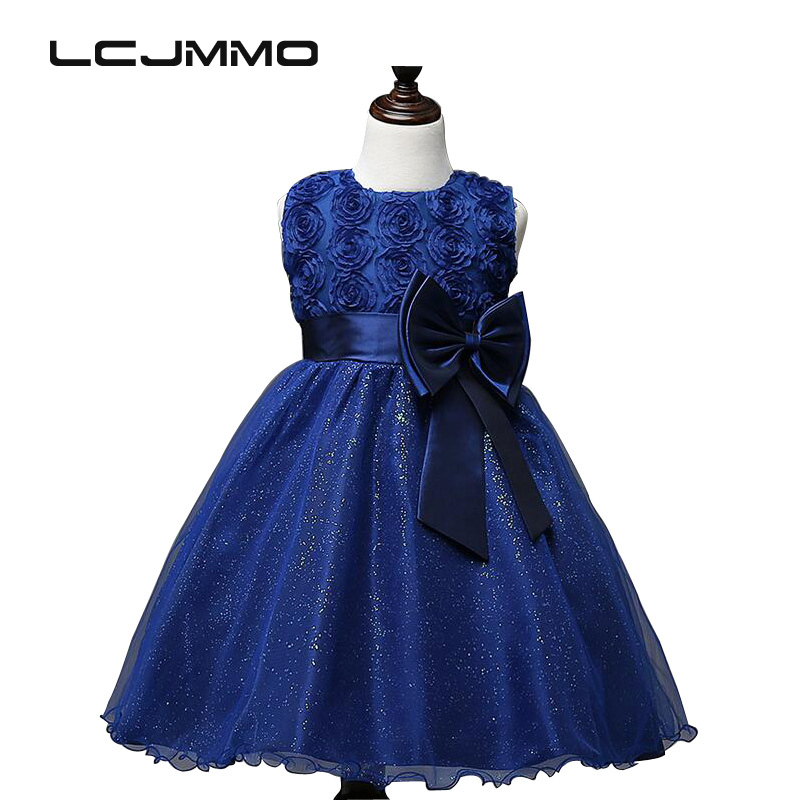 LCJMMO 2017 Summer New Girls Dresses birthday Kids clothes Princes Party dress Children Clothing Wedding Pageant Ball Gown