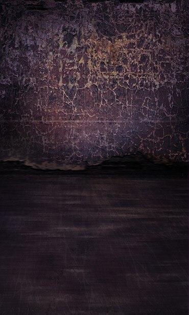 10x20FT Vintage Dark Brown Cracks Peeling Wall Black Texture Floor Custom Photography Backdrops Studio Backgrounds Vinyl