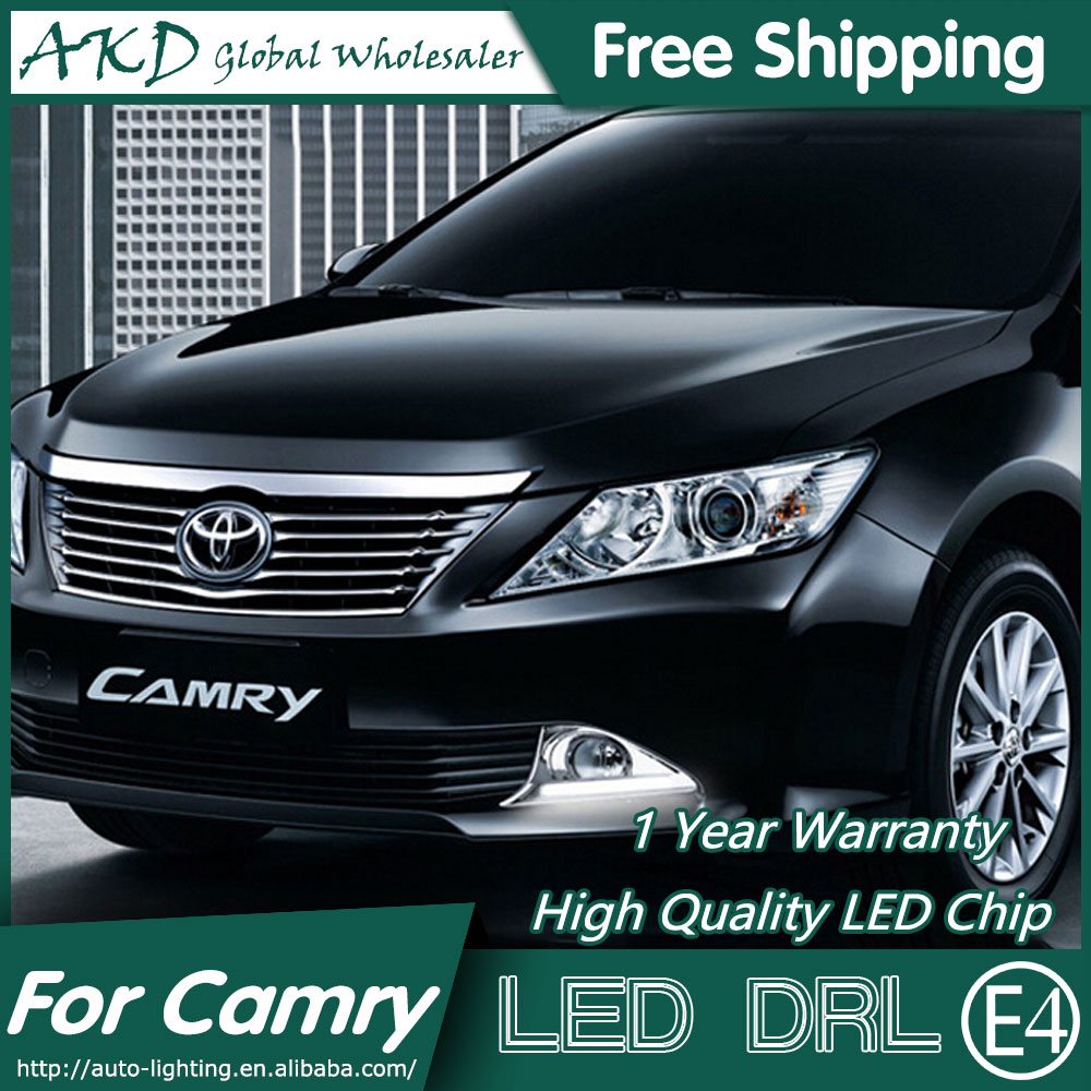 AKD Car Styling Fog Lamp for Toyota Camry V50 LED DRL 2012-2014 Camry LED Daytime Running Light Fog Light Parking Accessories special car trunk mats for toyota all models corolla camry rav4 auris prius yalis avensis 2014 accessories car styling auto
