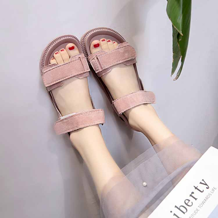 Women shoes adult solid sandals women 2019 fashion med heel height women sandals flat with casual shoes woman sandals female  (10)