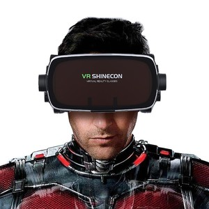 Image 2 - Hot 2020 Shinecon Casque 9.0 VR Virtual Reality Goggles 3D Glasses Google Cardboard VR Headset Box for 4.7 6.53 inch  Smartphone