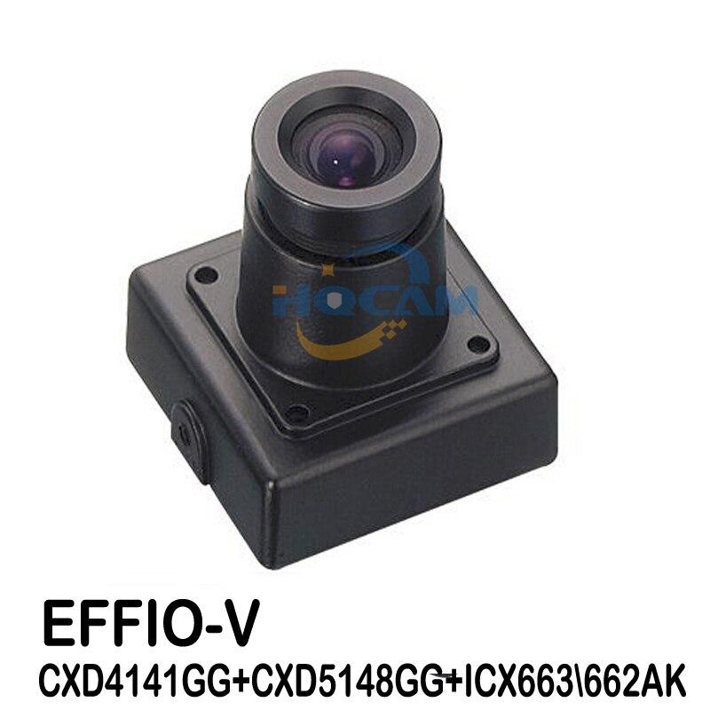 HQCAM 1 3 SONY Effio V 800TVL True WDR Miniature Square Camera 3 6mm Lens OSD
