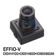 HQCAM caméra carrée Miniature de 1/3 pouces, SONY effio v 800TVL WDR, objectif 3.6mm, fonction OSD, 4141 + 663 \ 662 ATM selon le visage