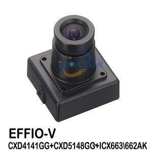"""Image 1 - Hqcam 1/3 """"sony effio v 800tvl verdadeiro wdr miniatura quadrado câmera 3.6mm lente osd função 4141 + 663 \ 662 atm câmera de acordo com o rosto"""