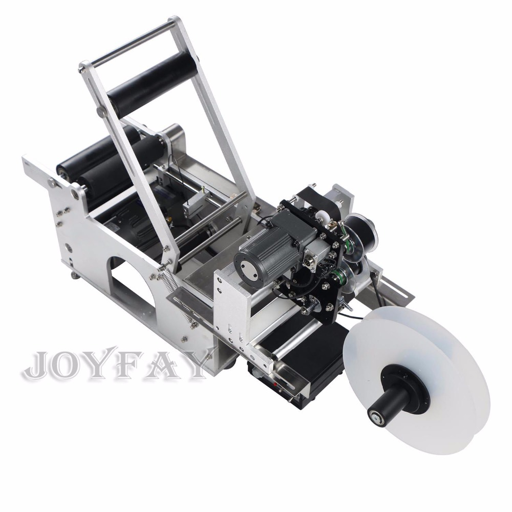 Semi-automatic Round Bottle Labeling Machine Bottle Labeler with Code Printer Coding Machine CE