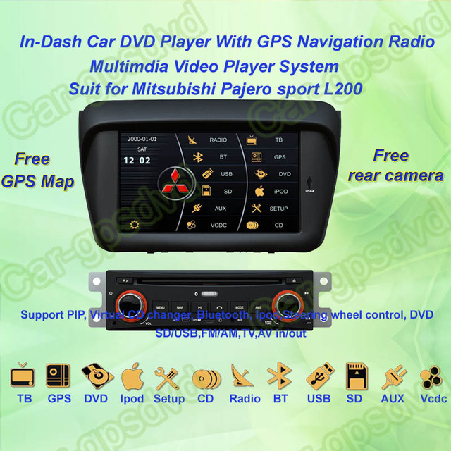 2010- 12 Mitsubishi Pajero sport L200 GPS Navigation DVD Player ,TV,Multimedia Video Player system+Free GPS map+Free shipping!!!