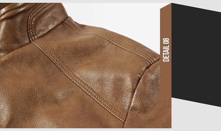 HTB1N7FVKkyWBuNjy0Fpq6yssXXaX DAVYDAISY 2019 High Quality PU Leather Jackets Men Autumn Solid Stand Collar Fashion Men Jacket Jaqueta Masculina 5XL DCT-245