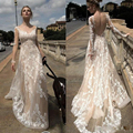 White Ivory Bohemian Wedding Dresses Tulle Beach Style Bridal Gowns 2017 New Vestido De Noiva Robe De Marriage Plus Size Dress
