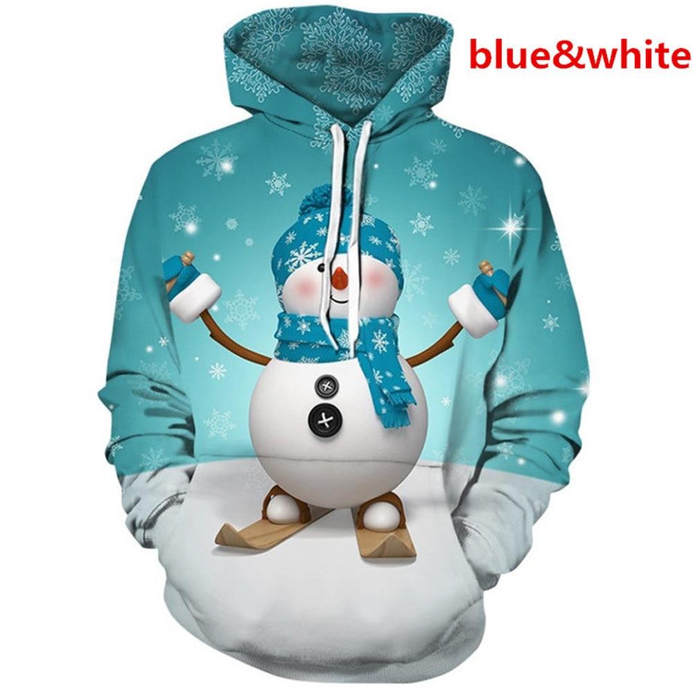 ZOGAA Christmas 3D Print Loose Women/Men Autumn Hooded Coat Long Sleeve Tops 3D Hoodie Casual Pullover Hoodies Sweatshirt