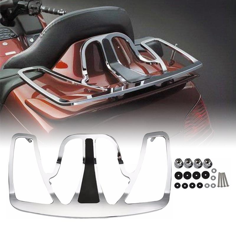 Motorcycle Chrome Trunk ბარგის თაროს ალუმინის Honda Goldwing GL1800 GL 1800 2001-2017 მოტოციკლეტის აქსესუარები