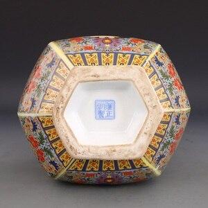 Image 5 - Jingdezhen الحرف اليدوية العتيقة سلالة تشينغ yongzheng المينا زهرية زهرية السنوية العتيقة جمع الحلي