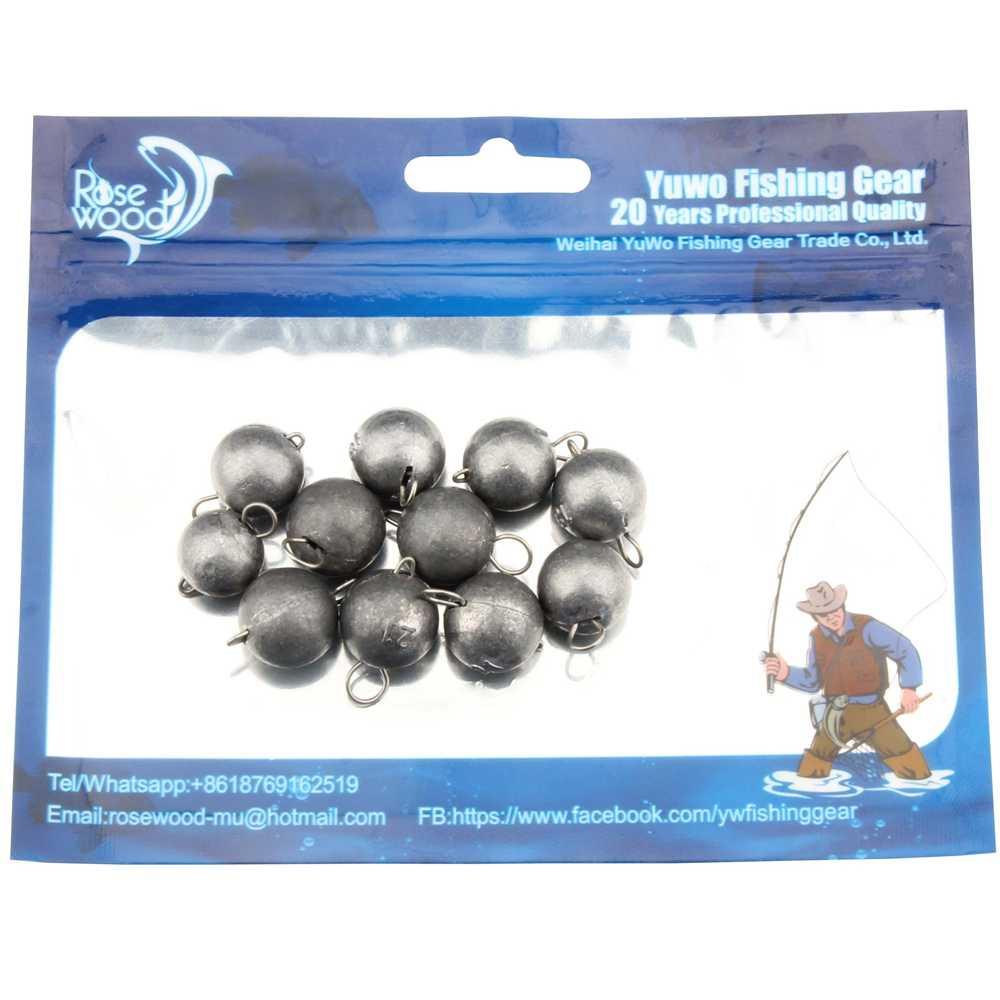 ROSEWOODตกปลาตะกั่วตะกั่วน้ำหนัก2กรัมถึง21กรัมด่วนแทรกตะกั่วทำให้จมลูกกลมน้ำหนักตกปลาอุปกรณ์รอก