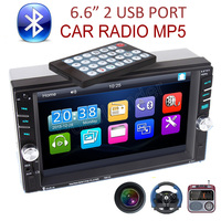 2 DIN 6.6 inch support rear camera/DVR input Car radio Bluetooth MP5 Player Touch Screen 2 USB FM AUX IN TF stereo head unit