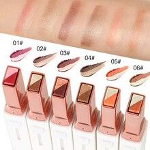 Professional Double Color Gradient Velvet Eye Makeup Shadow Stick Waterproof Shimmer Metallic Eyesha