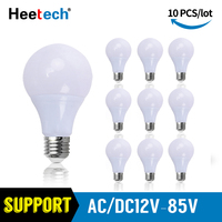 10pcs/lot LED Bulb 12V 24V 36V Light E27 Lampada 3W 5W 7W 9W 12W 15W Led lamp Bombillas Led Light Lighting Warm Cold White