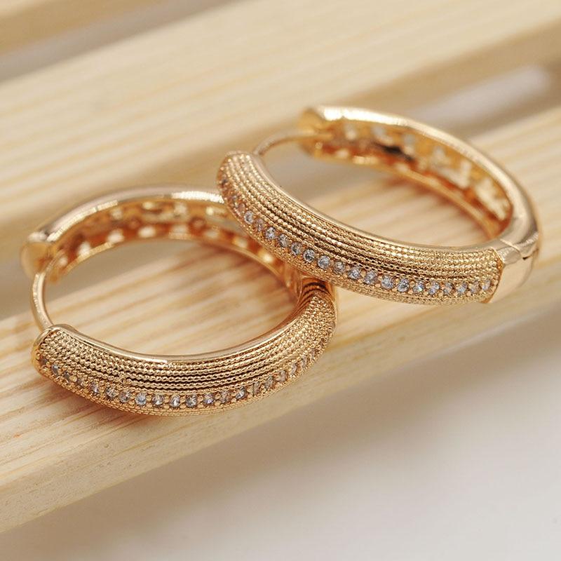 MGFam Big Hoop Earrings For Women Gold Color AAA+ Cubic Zircon Shinne Hot Sale Aliexpress Fashion Jewelry Lead and Nickel Free