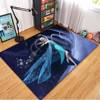 Disney Frozen Elsa Ann Rug Cartoon Princess Cute Children Room Carpet Nordic fairy tale girl bedroom living room blanket