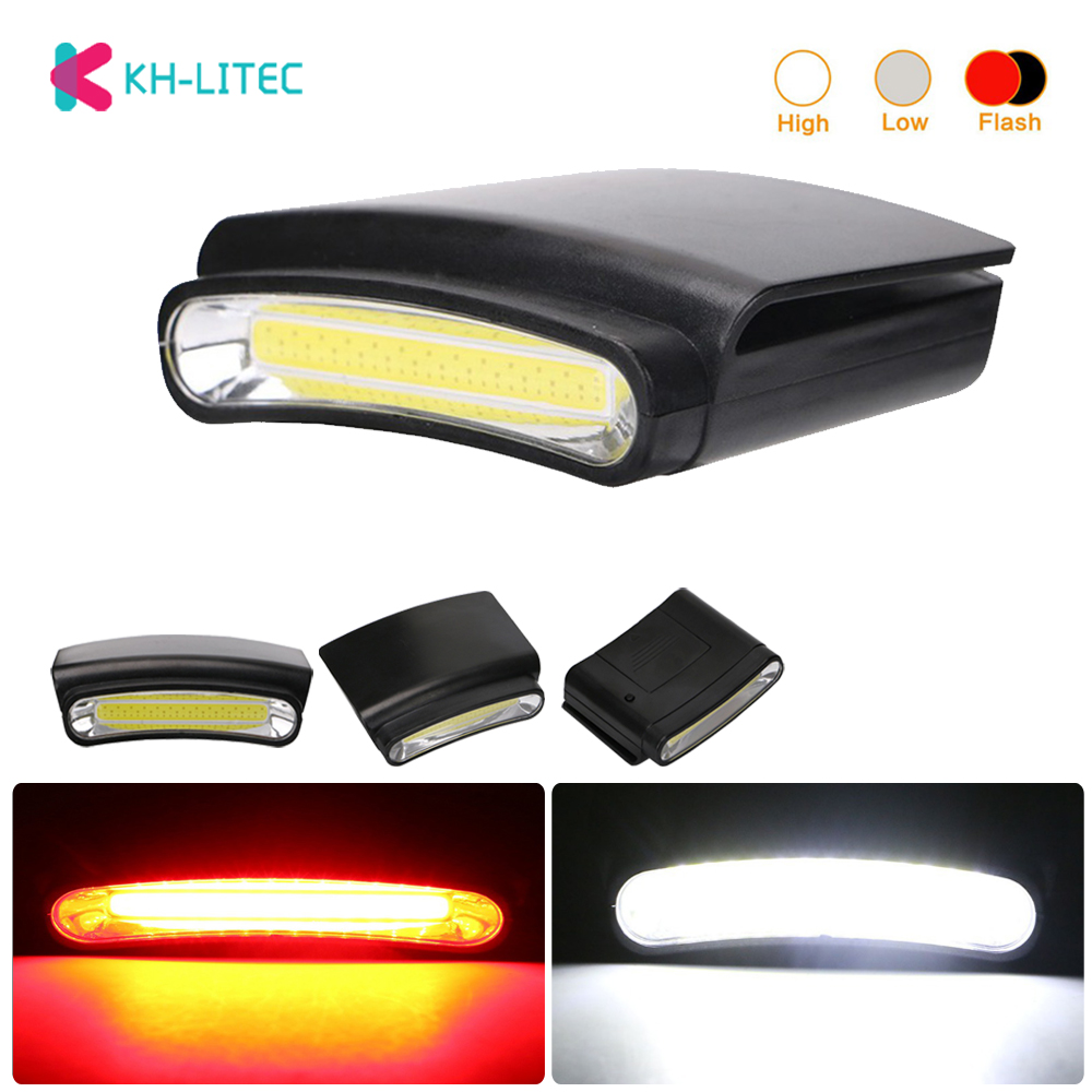 KHLITEC New Lightweight LED Portable Headlamps Clip Cap Lamps Cap Lamps Mini Flashlights Outdoor Lighting