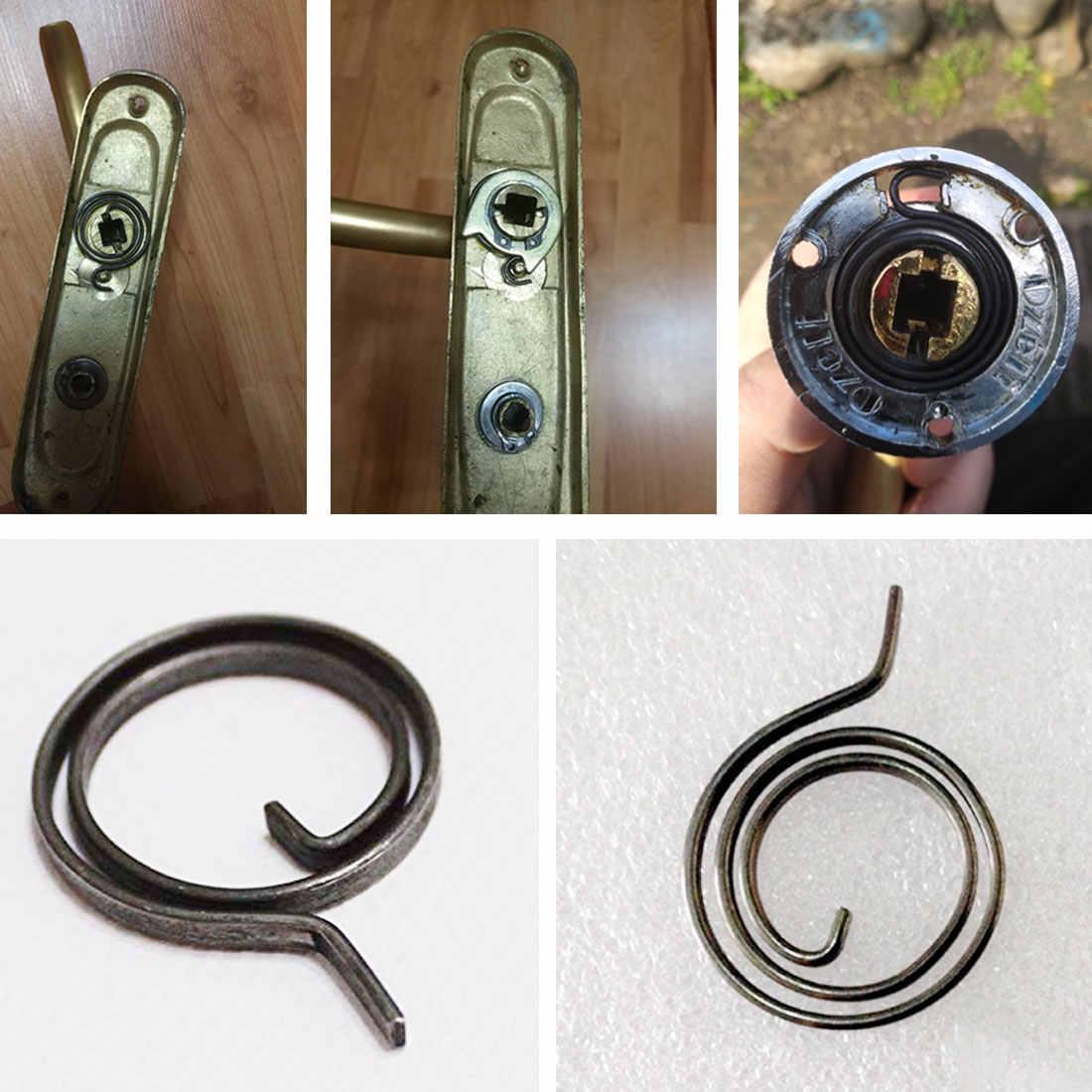 Ressort plat serrure torsion porte serrure torsion ressort fermeture éclair torsion pour bouton de porte poignée levier loquet interne bobine réparation