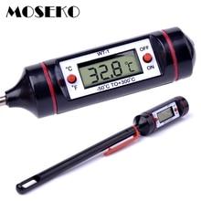 MOSEKO,, портативный термометр для еды, цифровой, для молока, воды, духовки, зонд, для барбекю, мяса, термометр, кухонный инструмент для приготовления пищи, температура
